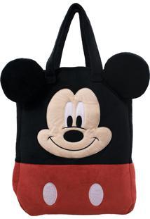 Bolsa Minas De Presentes Pelúcia Rosto Mickey - Disney