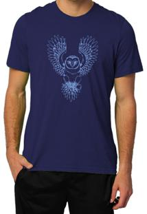 Camiseta Milá Sabedoria Casual - Masculino-Marinho
