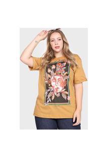 Camiseta Colcci Arts Amarela