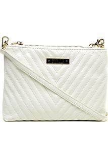 Bolsa Santa Lolla Mini Bag Matelassê Feminina - Feminino-Branco