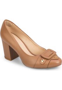 Sapato Tradicional Em Couro Com Recorte Frontal - Begecapodarte