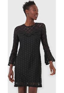 Vestido Curto Desigual Preto