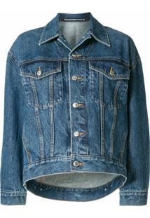 Alexander Wang Jaqueta Jeans Com Botões - Azul