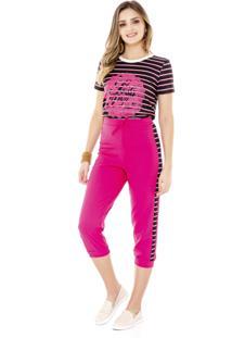 Blusa Listrada Amora Cafã© Pink - Pink - Feminino - Dafiti