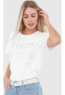 Camiseta Morena Rosa Lettering Aplicações Branca - Kanui