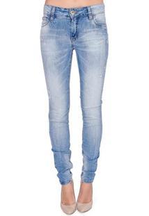 5c8573efe Occhi Azzurri. Calça Jeans Skinny Fátima Colcci