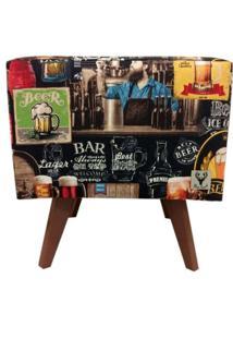 Puff Pã© Palito Quadrado Alce Couch Bali Beer Cerveja 40Cm - Marrom - Dafiti