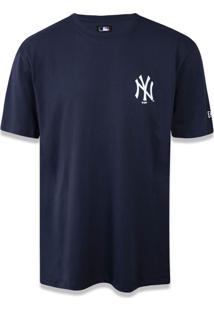 Camiseta New Era Basico New York Yankees Marinho