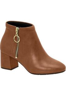 Ankle Boots Feminina Conforto Modare Zíper Argola