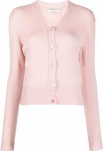 Emilio Pucci Cardigan Com Logo Bordado - 559-Dusty Pink