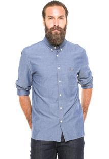 Camisa Lacoste Reta Azul