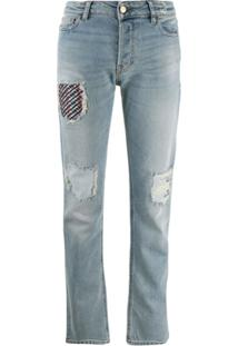 Emporio Armani Calça Jeans Com Patch - Azul
