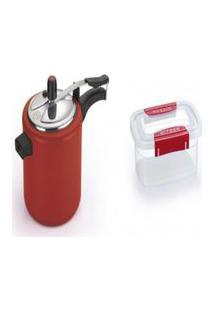 Kit Pote Plástico Microondas 2.1L + Panela De Pressão 4.5L