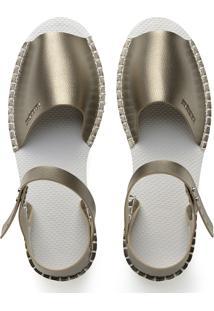 Alpargatas Havaianas Alpargatas Flatform Fashion Dourado