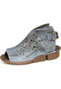 Sandália Infinity Shoes Conforto Fossil Azul