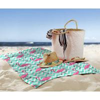 2788dfa218 Toalha De Praia   Banho Flamingos Chevron