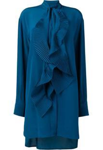 Givenchy Chemise Plissada - Azul