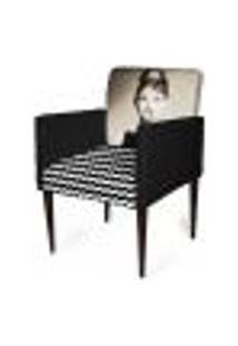 Cadeira Decorativa Sala Mademoiselle Plus Imp Digital 112 Frida