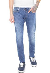Calça Jeans Diesel Skinny Estonada Azul