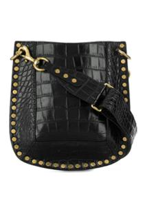 Isabel Marant Crocodile Effect Nasko Shoulder Bag - Preto