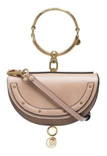 Chloé Clutch Nile Mini De Couro - Neutro