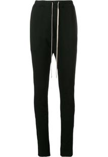 Rick Owens Drkshdw Drop Crotch Trousers - Preto