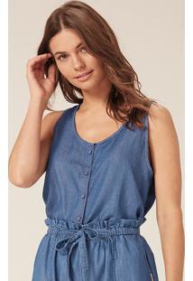 Regata Jeans Com Amarração