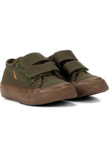 Tênis Infantil Reserva Mini C/ Velcro - Masculino-Verde Militar