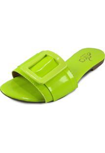 ba1e24c443 ... Rasteirinha Feminina Itra Neon Verde