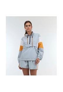 Jaqueta Com Zíper E Bolsos | Blue Steel | Azul | P