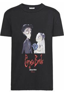 Miu Miu Camiseta Com Estampa X Disney Corpse Bride - Preto