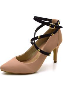 Sapato Scarpin Salto Alto Com Alças Em Napa - Kanui