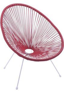 Cadeira Acapulco- Vermelha- 85X69X50Cm- Or Desigor Design