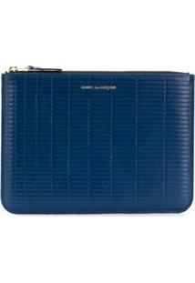 Comme Des Garçons Wallet Bolsa Clutch De Couro - Azul