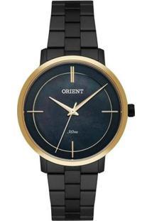 Relógio Feminino Orient Ftss0058/P1Px - /Dour - Unissex-Preto