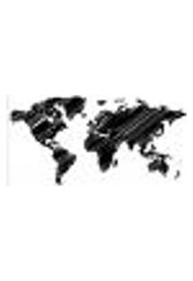 Painel Adesivo De Parede - Mapa Mundi - Mundo - 1360Pnp