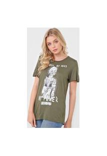 Camiseta Colcci My Power Verde