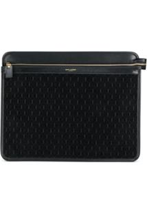 Saint Laurent Porta Documento Ysl - Preto