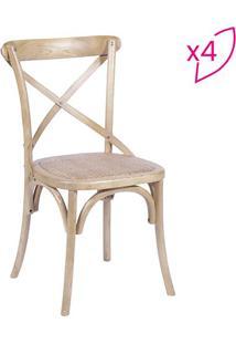 Jogo De Cadeiras Cross - Madeira - 4Pã§S - Or Desor Design