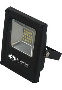 Refletor Led 10W Slim Blumenau Preto 6000K Luz Branca