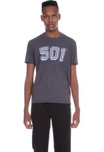 Camiseta Levis Masculino 501 Cinza Cinza