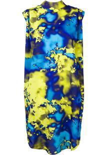 Msgm Vestido Neon - Azul