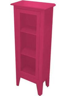 Cristaleira Colonial 1 Porta Atz 113 - Rosa