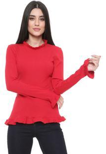 Blusa Colcci Babados Vermelha