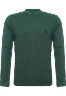 Camiseta Aleatory Básica Manga Longa Freedom Masculina - Masculino-Verde