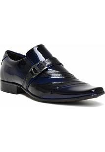 Sapato Gofer 0632 Co - Masculino-Azul Petróleo+Preto