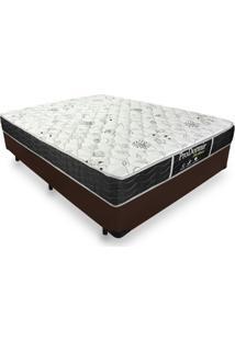 Cama Box Casal + Colchão De Molas - Probel - Prodormir Sleep Black 138X188X60Cm Marrom