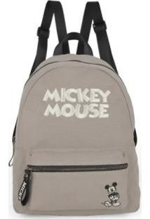 Bolsa Mochila Disney Mickey Cinza
