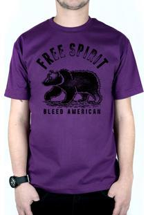 Camiseta Bleed American Free Spirit Roxo