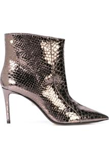 Alevì Ankle Boot Metalizada - Metálico